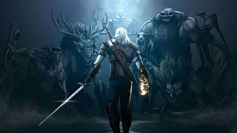 Animated Witcher 3 Wallpaper - witcher 3 hunt fighting warrior