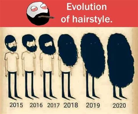 Evolution Of Hairstyle. 2015 2016 2017 2018 2019 2020