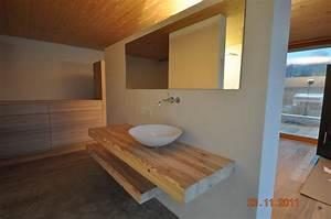 Waschtisch Mit Holzplatte : waschtischplatte holz aufsatzwaschtisch ~ Lizthompson.info Haus und Dekorationen