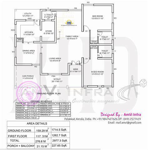 ground floor plan 5 bedroom house elevation with floor plan home kerala plans