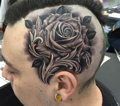 realistic grey rose tattoos  arm sleeve  justin burnout