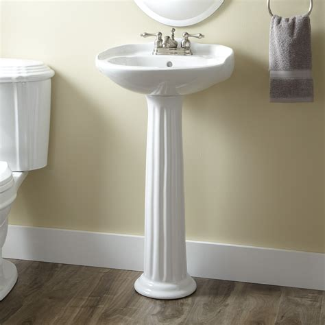 Victorian Porcelain Mini Pedestal Sink Bathroom
