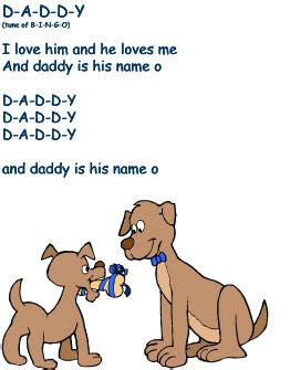 fathers day song father s day song daddy to the tune of bingo father s day pinterest fathers day songs