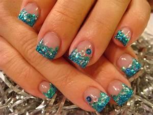 glitter nail designs | Gel Polish Cheetah Acrylic Nails ...