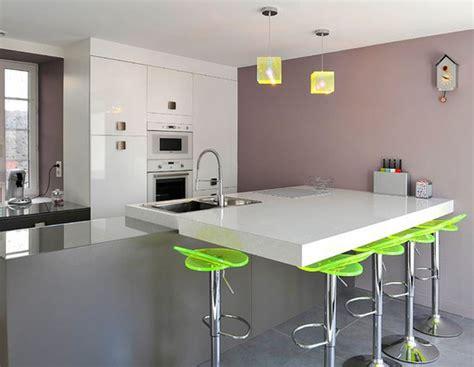 cuisine ilot centrale design cuisine ilot central deco maison moderne