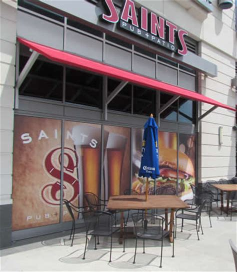 picture of the patio seating at saints pub patio in omaha