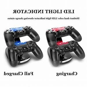 For Ps4 Playstation4 Controller Dual Led Charger Dock