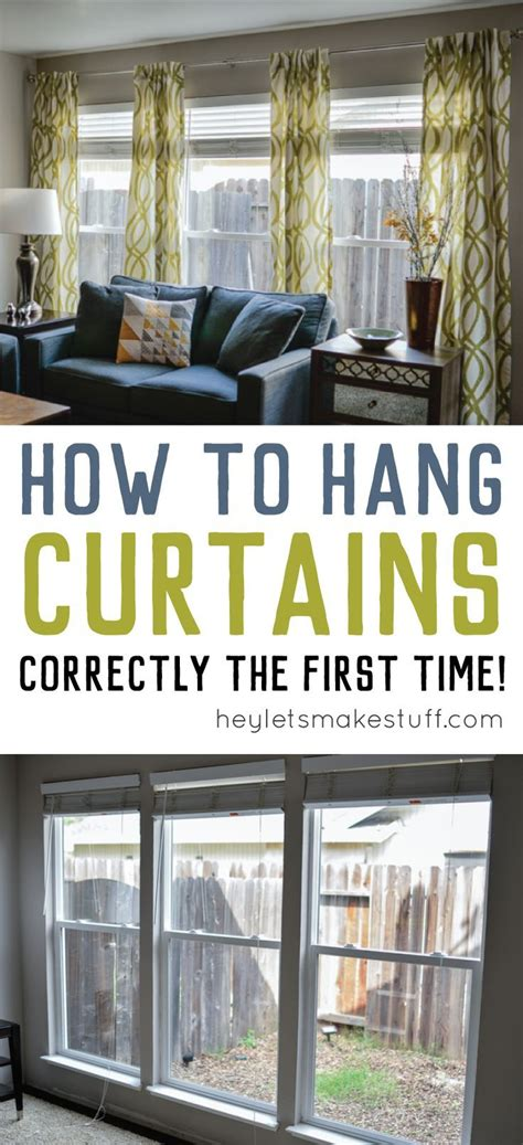 25 best ideas about hanging curtains on