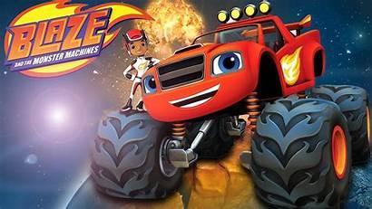 Blaze Monster Machines Cartoon Race Cars Wallpapers