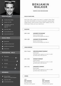 clean resume template free psd freedownloadpsdcom With how to make attractive resume