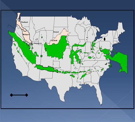 ggbeaman map  indonesia overlaid   map   usa