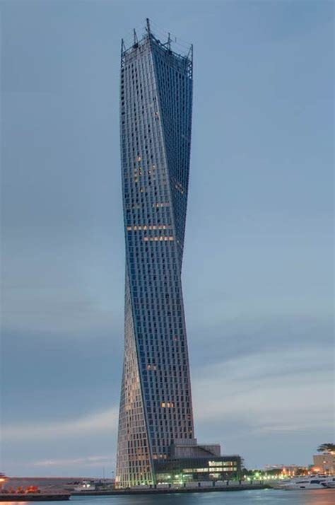cayan tower  worlds highest twisted tower opens