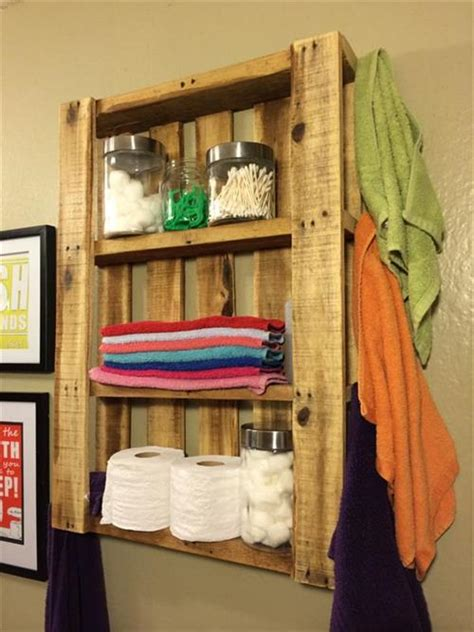 diy pallet bath room shelves pallets designs