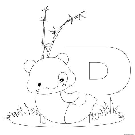 animal alphabet letters  print  color letter p