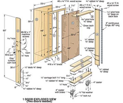 woodwork plan  tool cabinet project  diy wood roof
