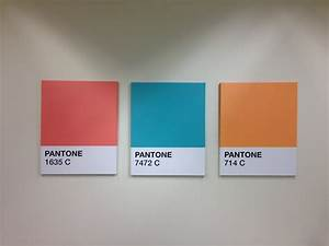 Pantone Canvas Wall Art Color Swatches The Rodimels