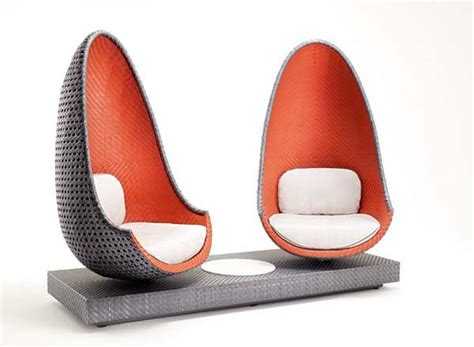 contemporary play lounge chair inspired  shape  eggs