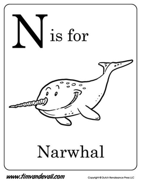 narwhal printable tims printables