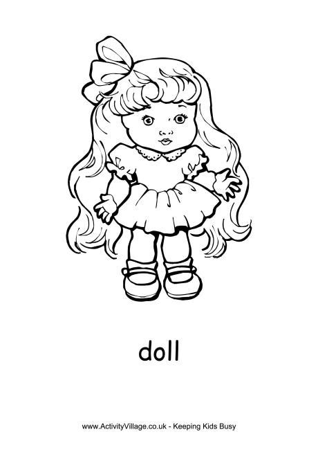 doll colouring page