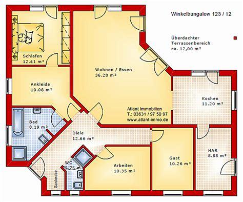Winkelbungalow 120 Qm by Winkelbungalow Grundriss 120 Qm Sch 246 N Grundrisse