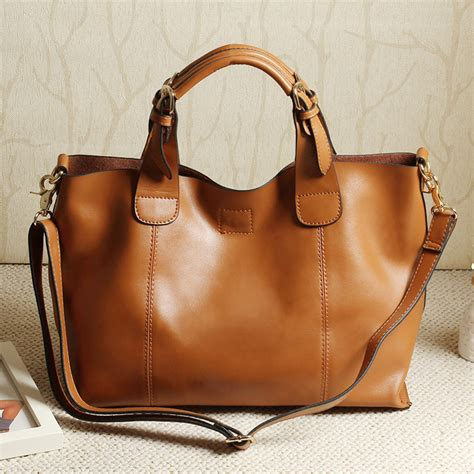 Hot Selling Women Genuine Leather Handbag Large Capacity