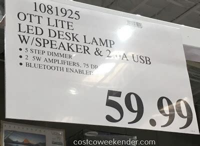 ottlite led desk l costco ottlite led bluetooth speaker l costco weekender