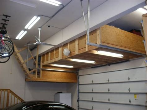 Ceiling Garage Storage Ideas by Overhead Garage Storage Diy Garage Ideas Overhead