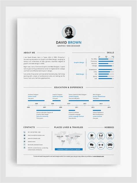 simple infographic resume design misc