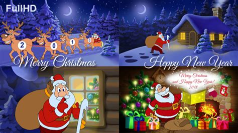 merry christmas and happy new year animated card by cartoontower videohive