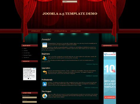 theatre responsive website template theater joomla template for movie theater