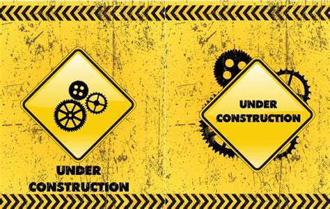 Under Construction Backgrounds Vector