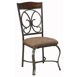 signature design by mestler dining upholstered side