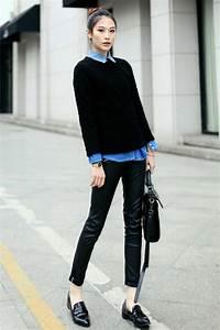 Hemd Pullover Kombination : schwarzer pullover als akzent bei der kleidung ~ Frokenaadalensverden.com Haus und Dekorationen