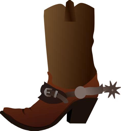 cowboy boot clip art at clker com vector clip art online royalty free public domain