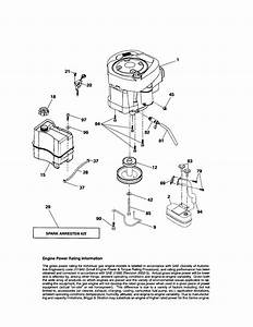 Engine Diagram  U0026 Parts List For Model 917287241 Craftsman