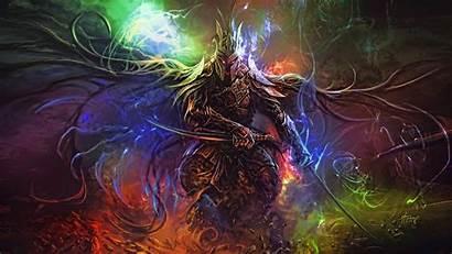 Fantasy Warrior Fan Digital Artwork 4k Dark
