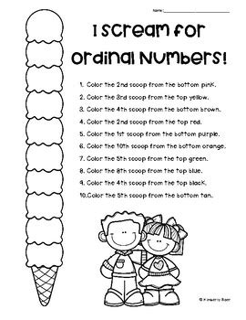 i scream for ordinal numbers ordinal numbers to 10