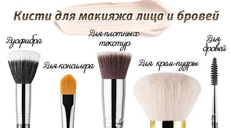 Какие существуют кисти для макияжа – как выбрать кисть для тона румян помады теней . Портал