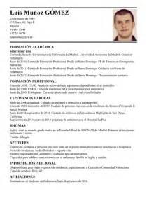 Modelo De Curr U00edculum V U00edtae Auxiliar T U00e9cnico Sanitario