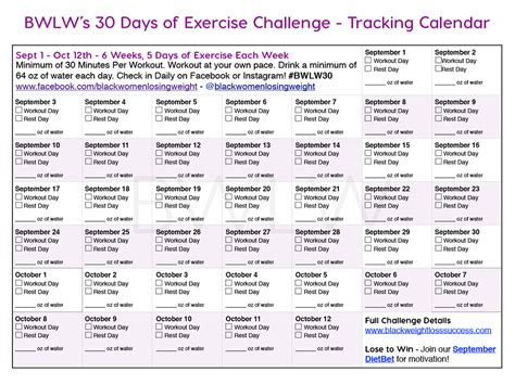 day exercise challenge  dietbet black weight loss