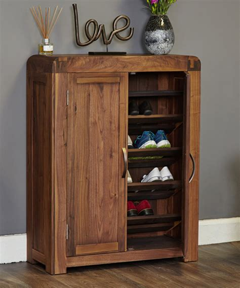 store solid walnut shoe storage cupboard shiro