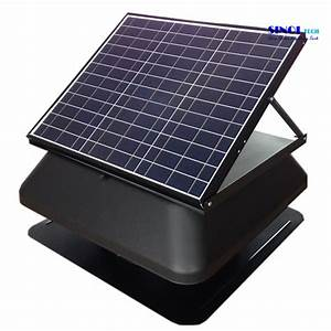 China Roof Mounted 30w 14inch Solar Attic Ventilation Fans