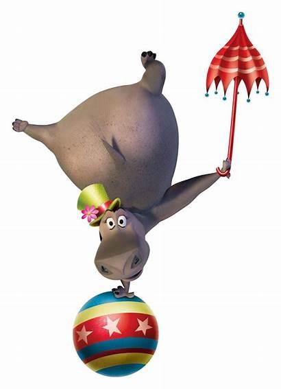 Madagascar Circus Gloria Hippo Wanted Europe Clipart