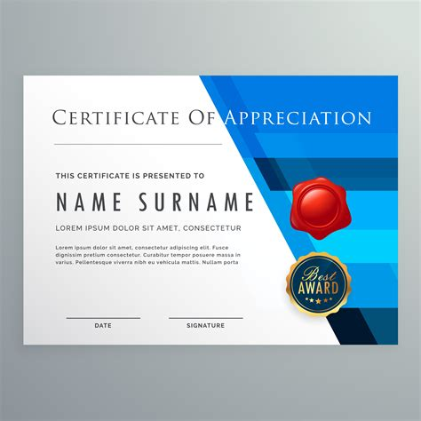certificate  appreciation modern template design