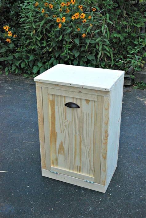 diy wooden waste basket cabinet diy kitchen design