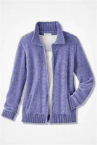 Zip Front Chenille Cardigan Coldwater Creek