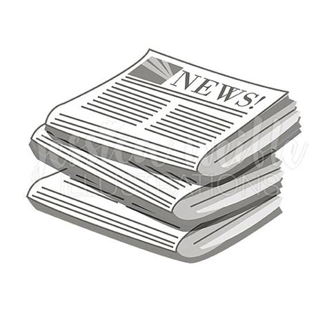 Newspaper Clipart Stack Of Newspapers Digital Clipart Newspaper Clip
