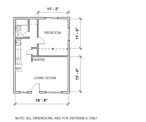 one cabin plans small 1 bedroom cottage floor plans and elevation by