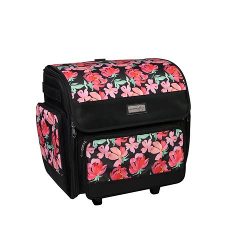 mary deluxe collapsible rolling craft case