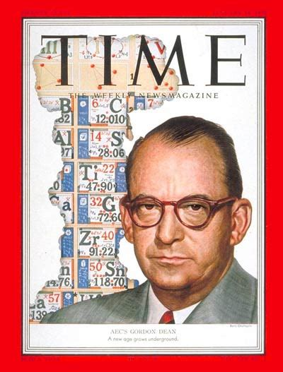 time magazine cover gordon dean jan   nuclear